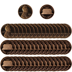 1976 Gem Proof Lincoln Cent Roll (50 Coins)