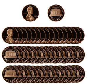 1992 Gem Proof Lincoln Cent Roll (50 Coins)