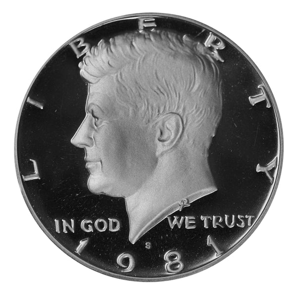 1981 S Kennedy Half Dollar Gem Deep Cameo Proof Roll CN-Clad (20 Coins) Type 1 (Filled S)