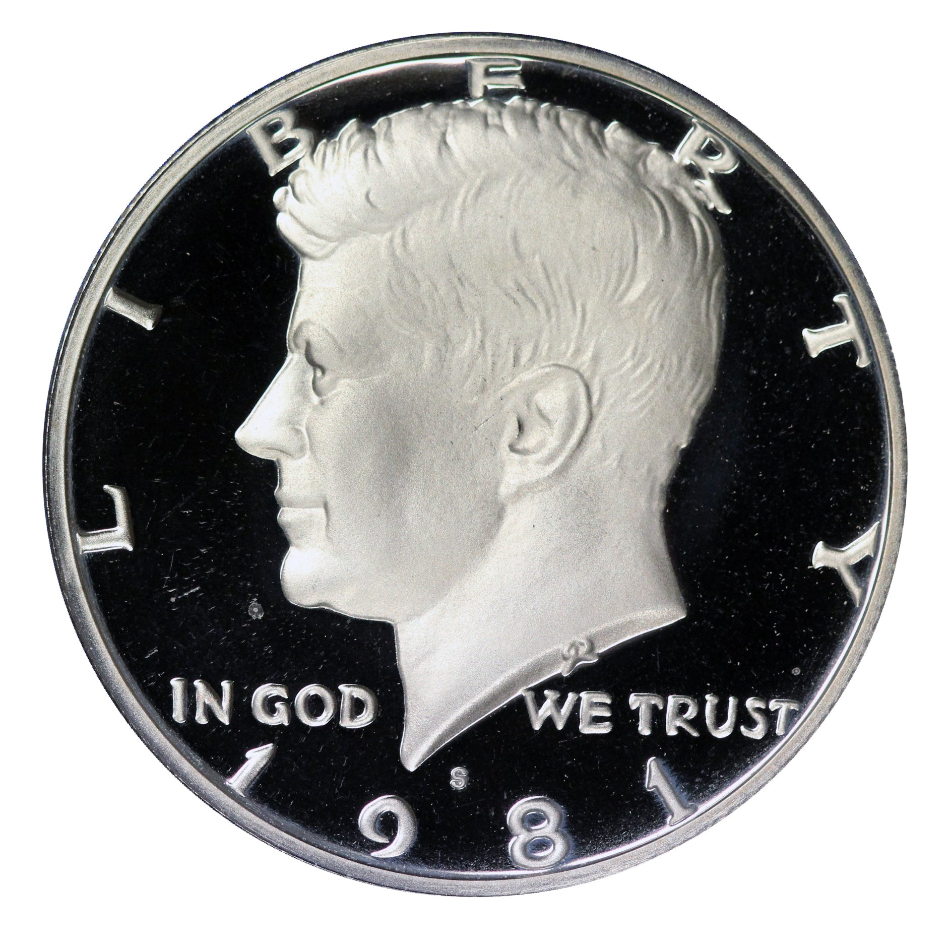 1981 S Kennedy Half Dollar CN-Clad Proof Type 2 Clear S