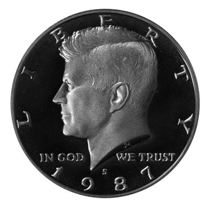 1987 S Kennedy Half Dollar CN-Clad Proof