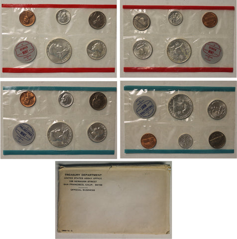 1963 PD US Mint set (OGP) 10 coins
