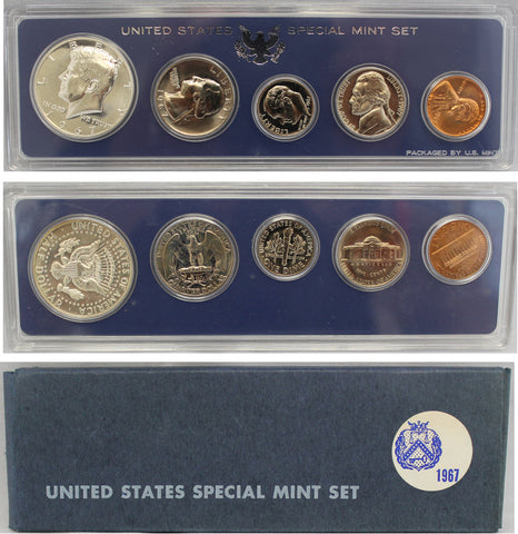 1967 S US Mint set (OGP) 5 coins