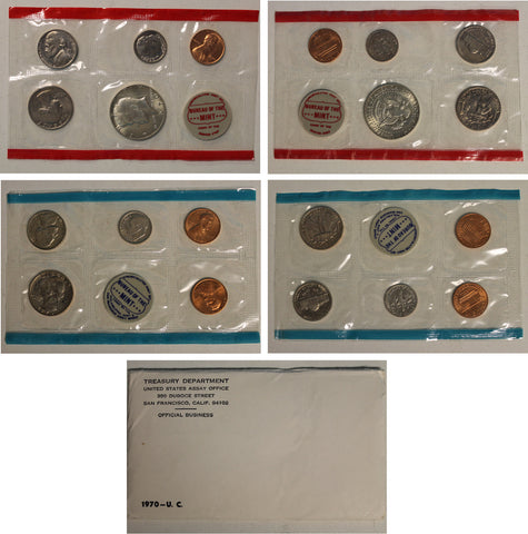 1970 PD US Mint set (OGP) 10 coins - Large Date