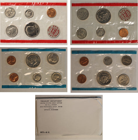 1971 PD US Mint Set (OGP) 11 coins
