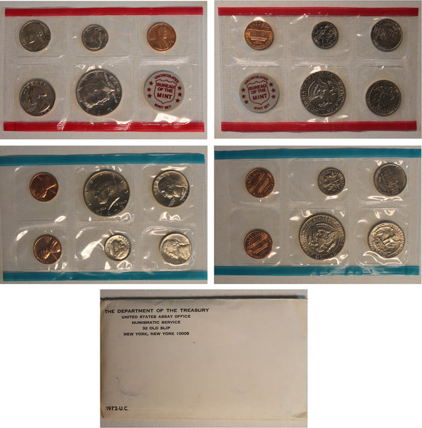 1972 PD US Mint Set (OGP) 11 coins