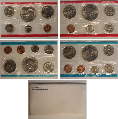 1973 PD US Mint Set (OGP) 13 coins