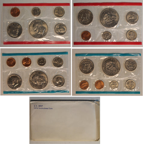 1974 PD US Mint Set (OGP) 13 Coins