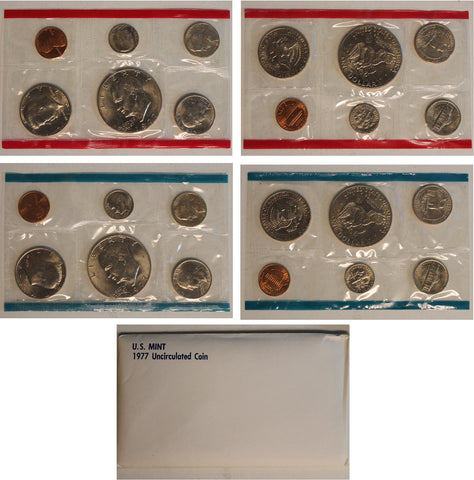 1977 PD US Mint Set (OGP) 12 coins with  Eisenhower Dollar