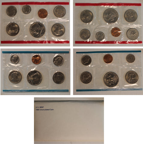 1980 PD US Mint Set (OGP) 13 coins