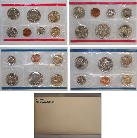 1981 PD US Mint Set (OGP) 13 coins