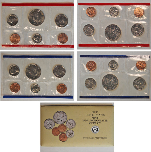 1990 PD US Mint Set (OGP) 10 coins