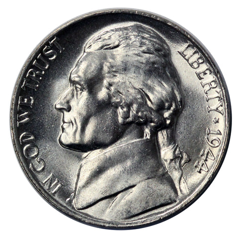 1944 -P Silver War Jefferson Nickel - Choice/Gem BU US Coin