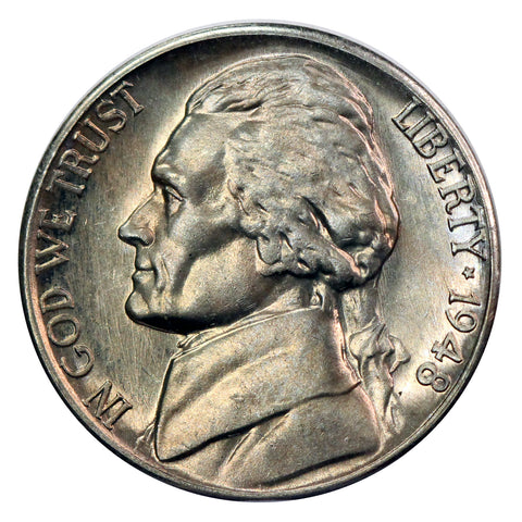1948 -D Jefferson Nickel - Choice/Gem BU US Coin
