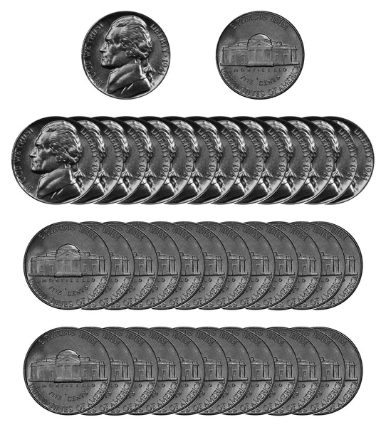 1941 P Jefferson Nickel Choice/Gem BU Roll (40 Coins)