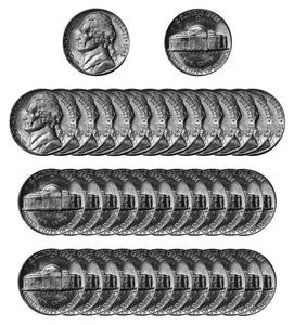 1943 D Silver Jefferson Nickel Choice/Gem BU Roll (40 Coins)