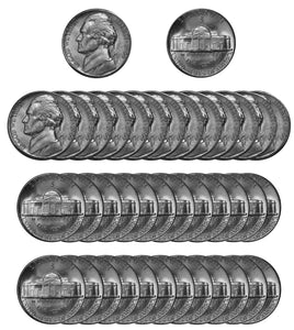 1944 S Silver Jefferson Nickel Choice/Gem BU Roll (40 Coins)