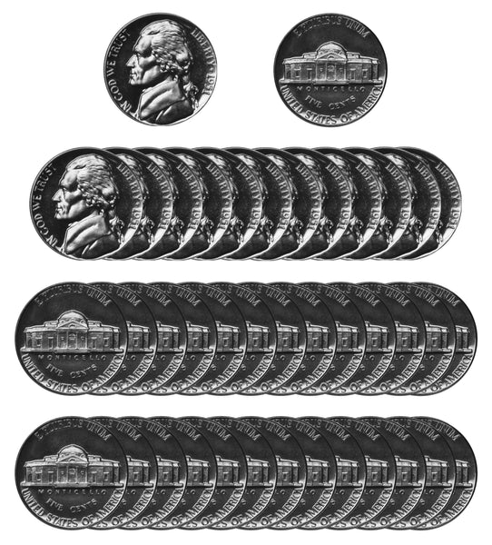 1951 Jefferson Nickel Gem Proof Roll (40 Coins)