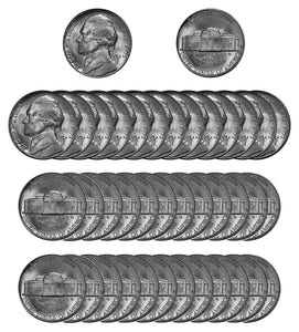 1951 D Jefferson Nickel Choice/Gem BU Roll (40 Coins)