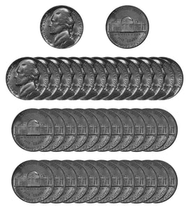 1952 P Jefferson Nickel Choice/Gem BU Roll (40 Coins)