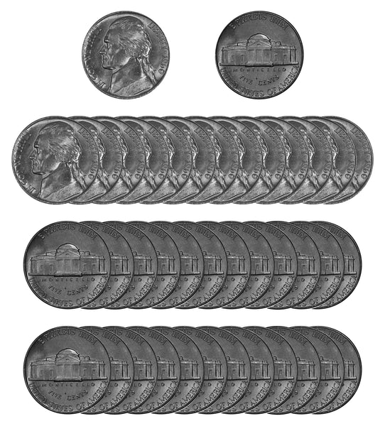 1960 P Jefferson Nickel Choice/Gem BU Roll (40 Coins)