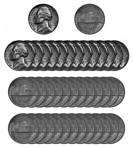 1961 P Jefferson Nickel Choice/Gem BU Roll (40 Coins)