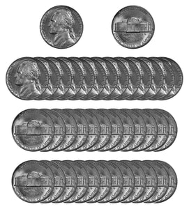 1964 D Jefferson Nickel Choice/Gem BU Roll (40 Coins)