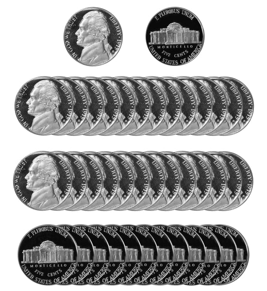 1975 S Jefferson Nickel Gem Proof Roll (40 Coins)