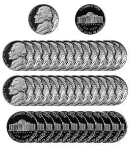 1981 Jefferson Nickel Gem Deep Cameo Proof Roll (40 Coins) Type 1 Filled S