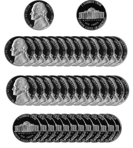 1992 S Jefferson Nickel Gem Proof Roll (40 Coins)