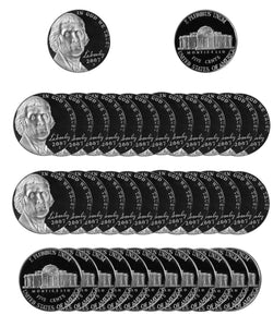 2007 S Jefferson Nickel Gem Proof Roll (40 Coins)