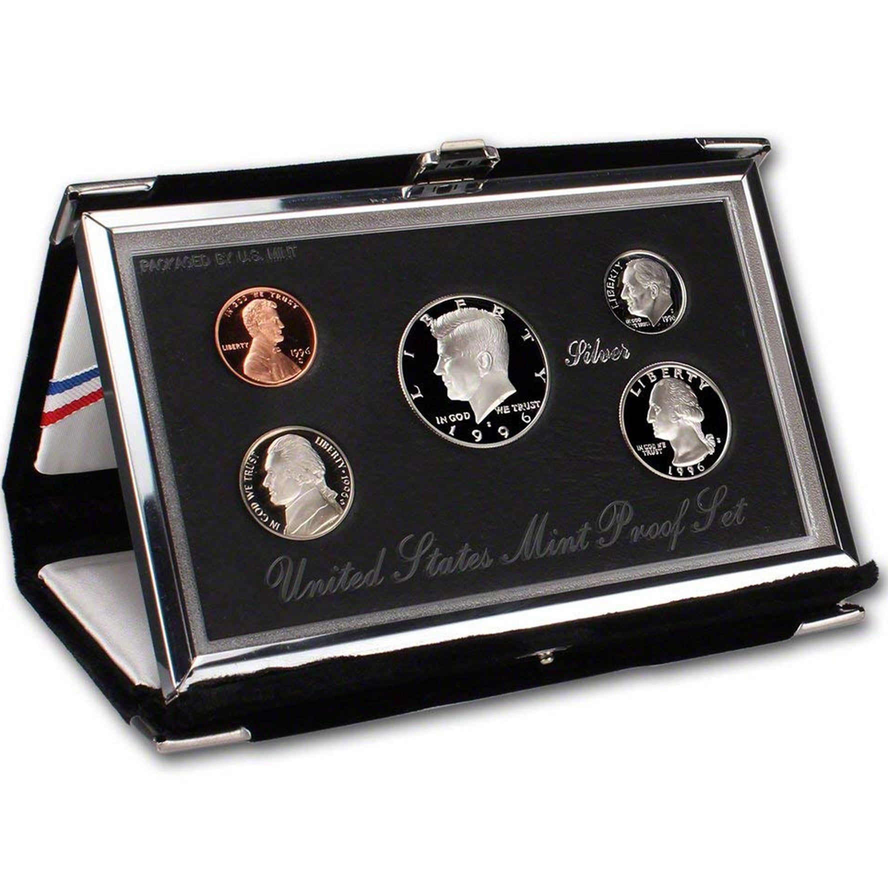 1996 Premier Silver Proof Set (OGP) 5 coins