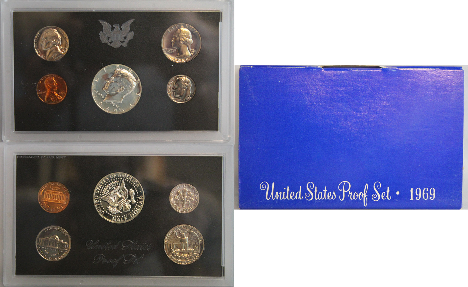 1969 Proof Set 40% Silver Kennedy (OGP) 5 coins