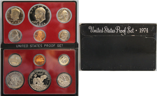 1974 Proof Set CN-Clad (OGP) 6 coins