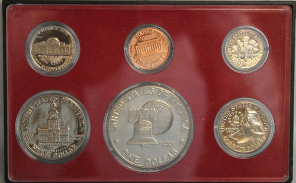 1975 Proof Set CN-Clad Bicentennial Designs (OGP) 6 coins