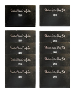1980 Proof set 10 Pack CN-Clad Susan B Anthony Kennedy- (OGP) 60 coins