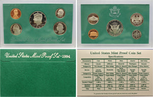 1994 Proof Set CN-Clad (OGP) 5 coins