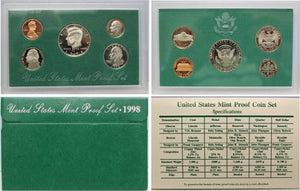 1998 Proof Set CN-Clad (OGP) 5 coins