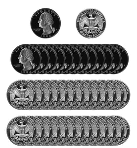 1994 S Washington Quarter Gem Deep Cameo Proof Roll CN-Clad (40 Coins)