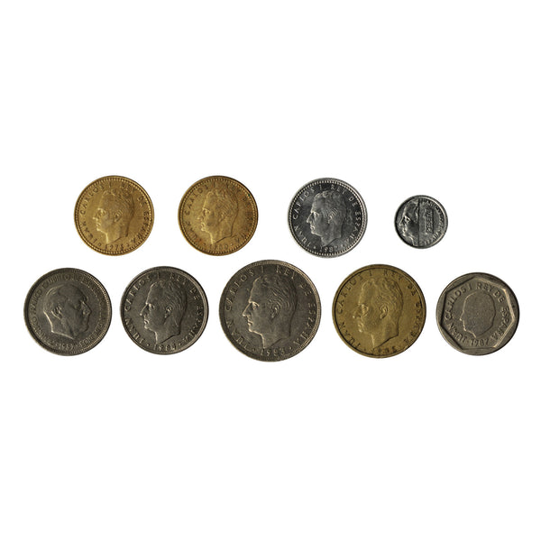 Spain Pre-Euro Circulated Type Set 9 coins