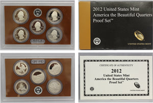 2012 America the Beautiful Quarter Proof Set CN-Clad (OGP) 5 coins
