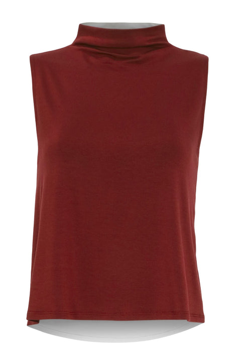 The Serena: Modal Mock Neck Top