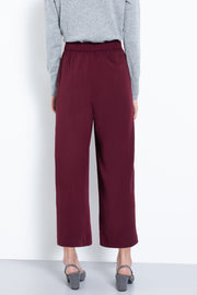 Comfortable pull-on stretch culotte pants - back view