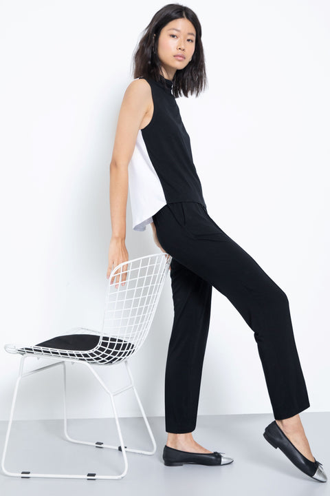 Soft knit modal lounge pants - side view