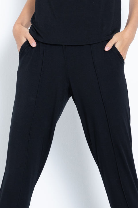 Soft knit modal lounge pants - feature view