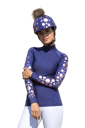 Navy & Rose Gold Spotty Baselayer