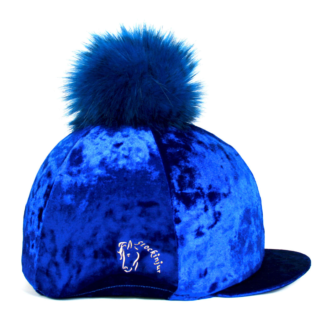 Royal Blue Dapple Hat Cover