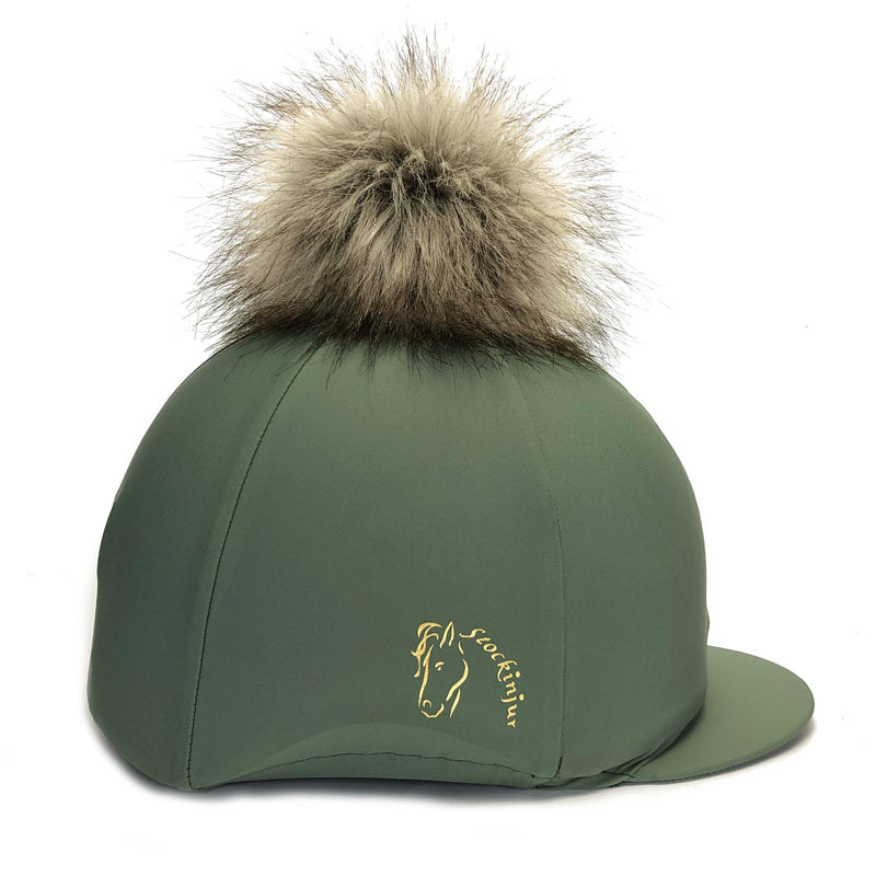 Sage Big Pom Lycra Faux Fur Hat Cover