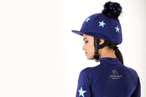 Navy Lycra with Baby Blue Stars