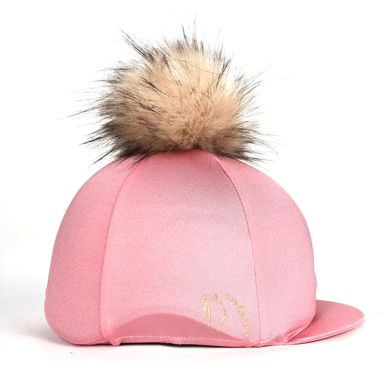 Blush Big Pom Lycra Faux Fur Hat Covers